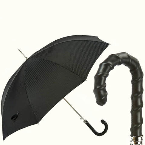 Купить дорогой зонт с кожаной ручкой