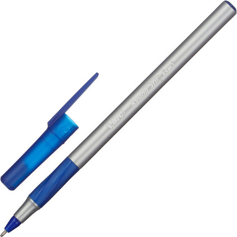 Ручка шариковая одноразовая BIC Round Stic Exact синяя (толщина линии 0.35 мм)