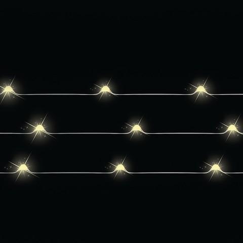 Декор гирлянда теплый свет 50 ламп 490 см медный провод