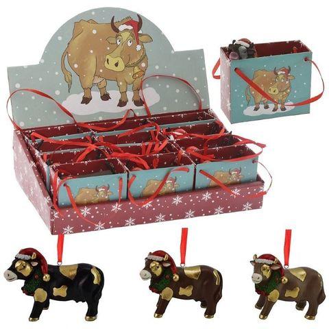 Елочная игрушка Бычок Подарок
