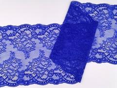 Эластичное кружево, 22 см, синий, м, (Арт: EK-2275), м