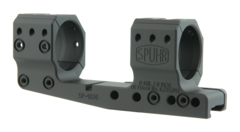 Тактический кронштейн SPUHR D34мм на Picatinny, H34мм, без наклона, с выносом (SP-4026)