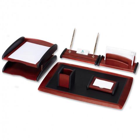 Настольный набор Good Sunrise RS6M-1A (6 предметов) красное дерево дерево/акрил красный/черный
