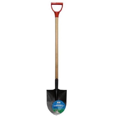 Лопата штыковая (рельсовая сталь) Землеройка с черенком и ручкой