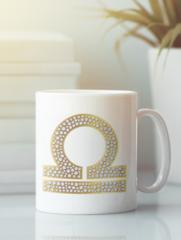 Кружка с изображением Знаки Зодиака, Весы (Гороскоп, horoscope) белая 004