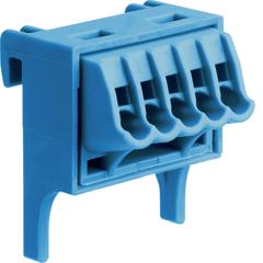 Volta, клемма N, QC, дополнительная, со специальным установочным приспособлением, 5 x 1,5 - 4 мм², синяя