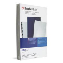 Обложки для переплета картонные GBC А4 250 г/кв.м белые текстура кожа (100 штук в упаковке)