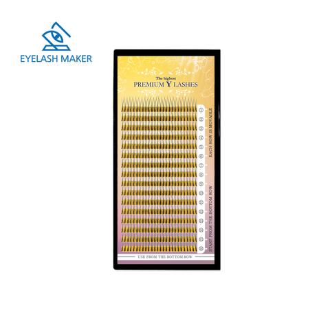 Ресницы EM айлэш мэйкер двойные Y-тип 16 линий MIX