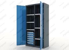 Шкаф инструментальный 6 ящ. и 6 полок, металлический, серия