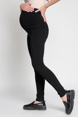 Утепленные леггинсы для беременных 11377 черный