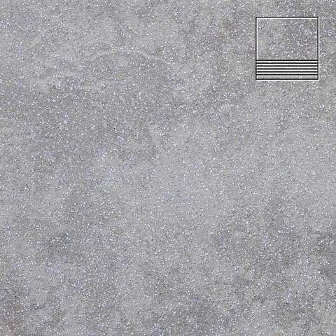 Stroeher - Keraplatte Roccia 840 grigio 300x294x10 артикул 8131 - Клинкерная ступень с насечками без угла