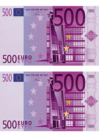 Печать на сахарной бумаге, Набор Купюра 500 Евро 2