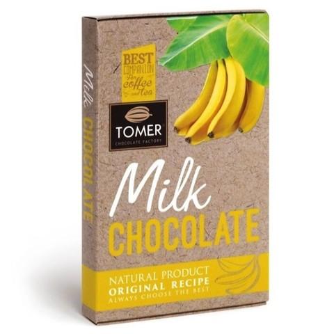Шоколад молочный с бананом Tomer, 90г