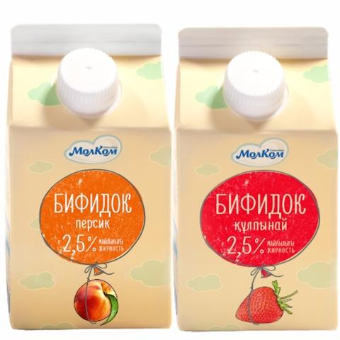 Бифидок фруктовый 2,5% 0,5 л т/р Молком КАЗАХСТАН