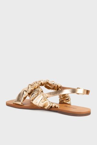 Женские золотые сандалии Anacapri