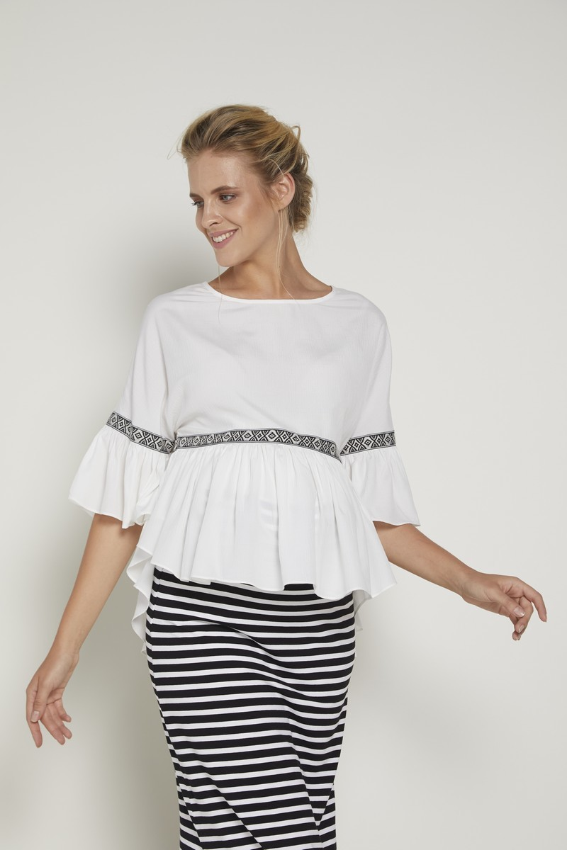 Блузка для беременных 09352 экрю