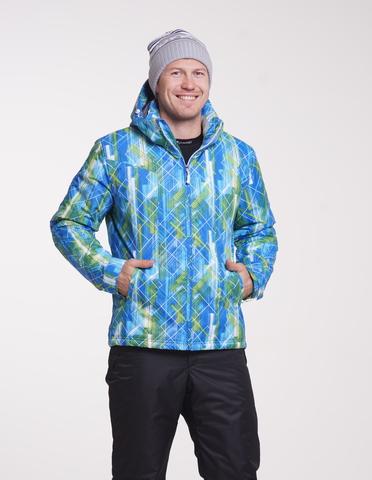 Утепленная лыжная куртка Nordski City Blue/Lime/Black мужская