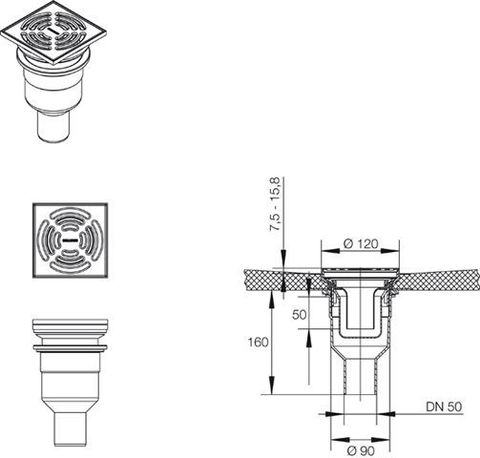 Вертикальный трап - Mepa Montagepanel TersoFLAT 150251