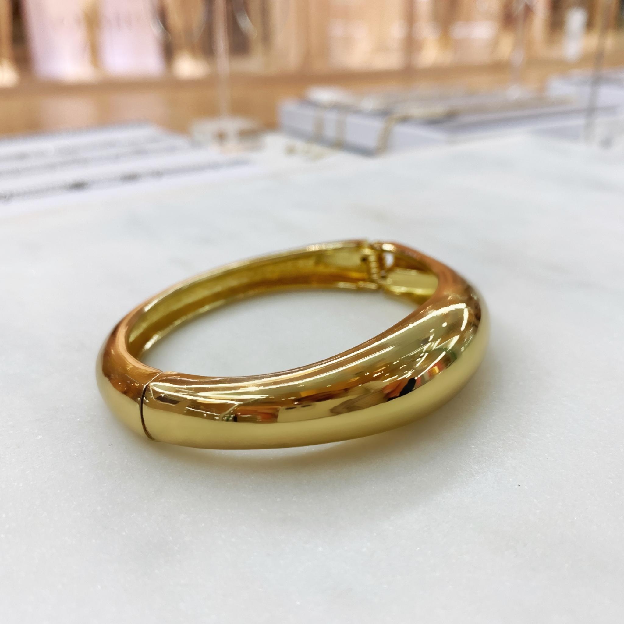 Браслет-обруч базовый глянцевый (золотистый)