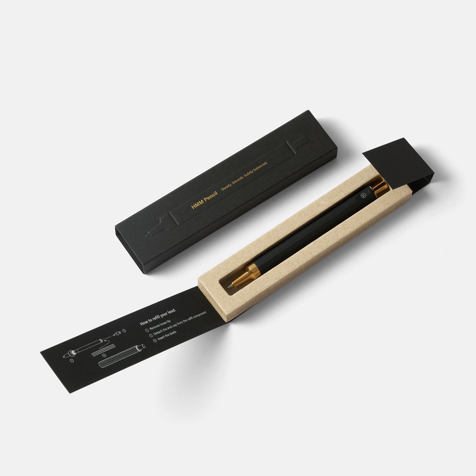 HMM Pencil Gold — механический карандаш из алюминия