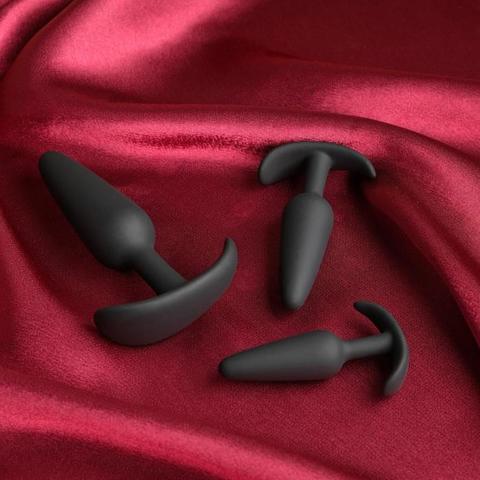 Набор из 3 черных анальных пробок