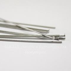 Пины-гвоздики TierraCast 51х0,7 мм (цвет-никель), 10 штук