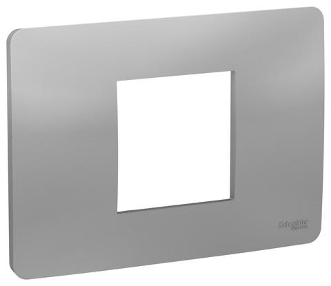 Рамка 2-модульная, Цвет Алюминий. Schneider Electric. Unica Modular. NU210230