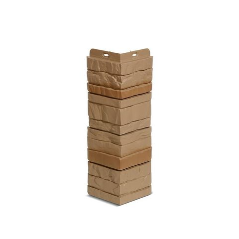 Угол наружный Деке Камень  400 х 185 мм Бронза