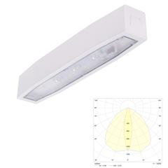 Светильник аварийного освещения эвакуационных проходов в торговых залах и помещениях с высокими потолками Suprema LED SСH NT IP54 Intelight