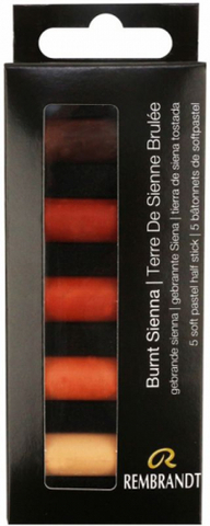 Набор сухой пастели Rembrandt 5цв сиена жженая картон.упак