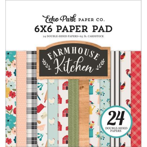 Набор двусторонней бумаги 15х15 см -Echo Park Double-Sided Paper Pad -Farmhouse Friends -24л