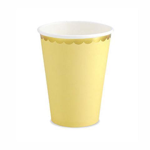 Стаканы светло-желтые, 6 штук