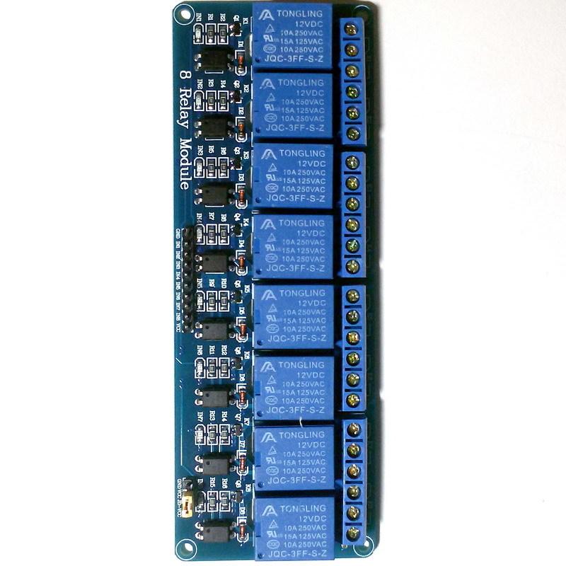 Релейный модуль 8 каналов 12В