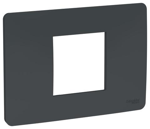 Рамка 2-модульная, Цвет Антрацит. Schneider Electric. Unica Modular. NU210254