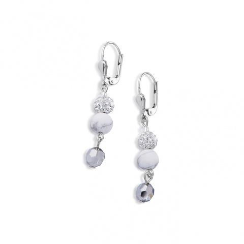 Серьги Coeur de Lion 4895/20-1400 цвет белый, серебряный