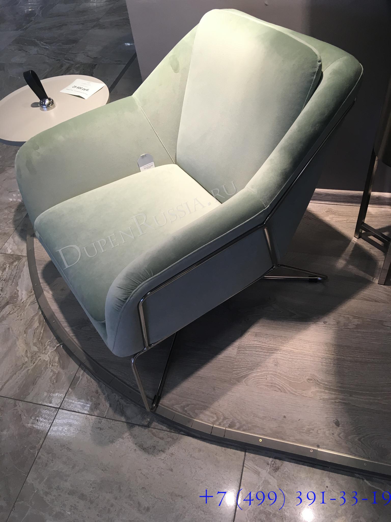 46AS-AR2976-OLV Кресло велюр светло-оливковый/хром 75*87*80см