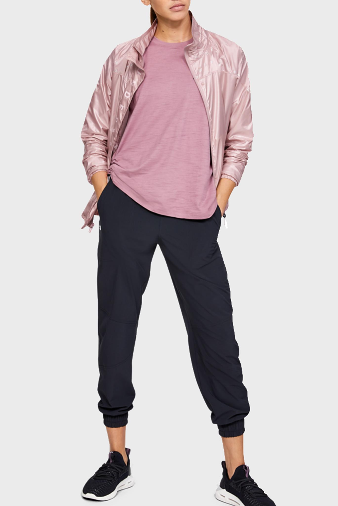 Женская розовая ветровка Athlete Recovery Woven Iridescent Jacket Under Armour
