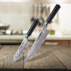 Набор из 2 кухонных стальных ножей  Samura Damascus