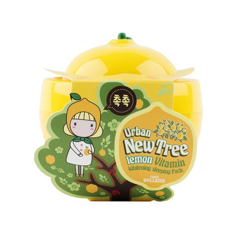 Baviphat Urban Dollkiss New Tree Lemon Vitamin Whitening Sleeping Pack ночная осветляющая маска с экстрактом лимона