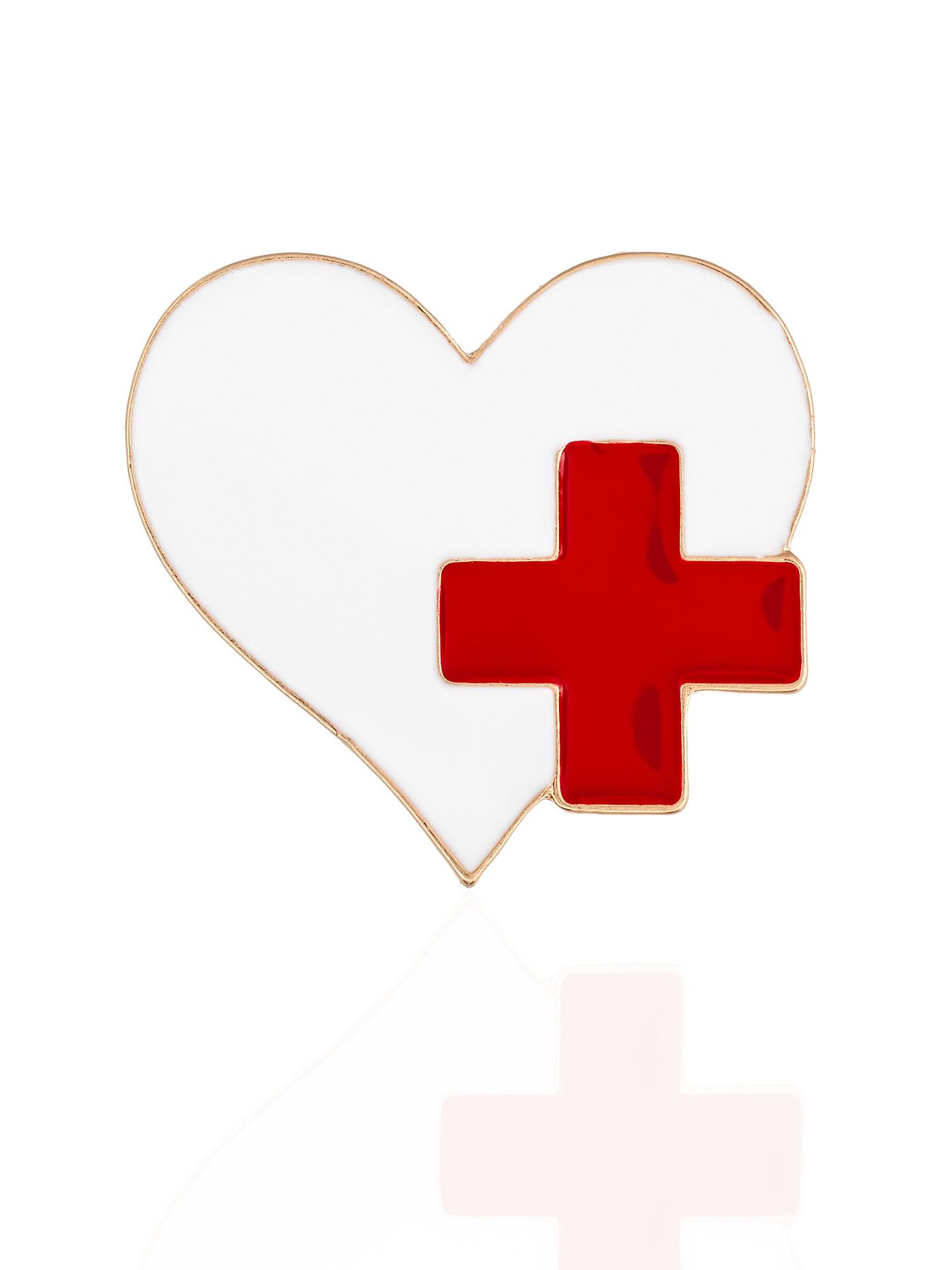 Брошь Сердце, подарок доктору, кардиологу