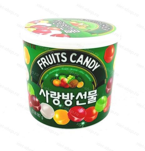 Карамель фруктовая Fruits Candy Lotte, Корея, 187 гр.