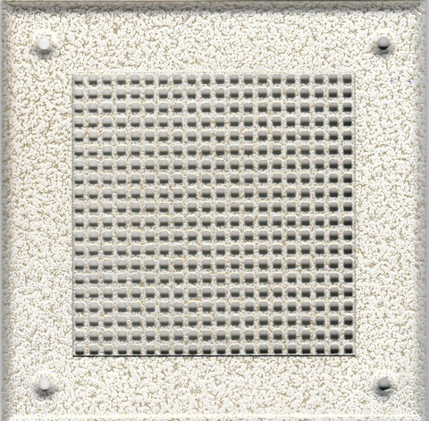 Решётка 210*210 белый антик, мелкая клетка