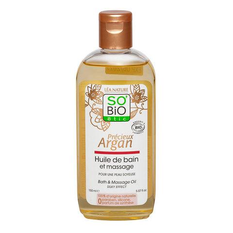 Масло аргановое для массажа и ванны SO'Bio etic, 150 мл