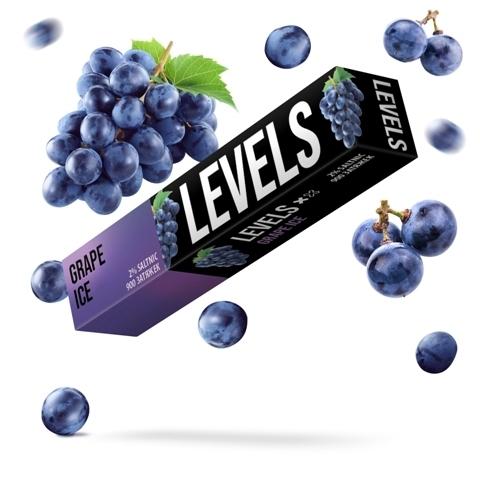 LEVELS (900 затяжек) Grape Ice - Виноград с Холодком