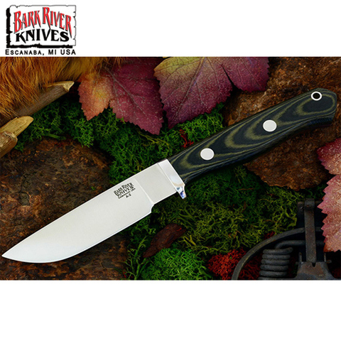 Нож Bark River модель Gameskeeper Green Linen Micarta