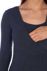 Мамаландия. Лонгслив для беременных и кормящих на запах, джинс вид 3
