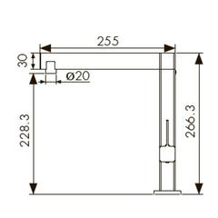 Смеситель KAISER Vico 30044 хром и 30044-5 серебро для кухни схема