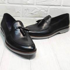 Красивые туфли  лоферы мужские Luciano Bellini 91178-E-212 Black.