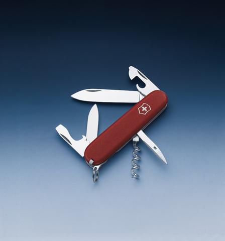 Нож Victorinox EcoLine, 91 мм, 12 функций, красный матовый