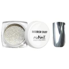ruNail, Зеркальная пыль для втирки с аппликатором, Mirror Dust, серебро, 1 г
